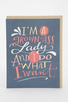 Emily McDowell Grown Lady Card
