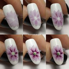 """If you're unfamiliar with nail trends and you hear the words """"coffin nails,"""" what comes to mind? It's not nails with coffins drawn on them. It's long nails with a square tip, and the look has. Remove Acrylic Nails, Acrylic Nail Art, Spring Nails, Summer Nails, Cute Nails, My Nails, Nail Art Fleur, Painted Nail Art, Flower Nail Art"""