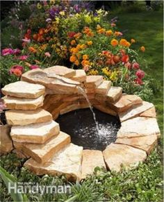 How To Build A Backyard Fountain and Pond  -- Don't miss out! Follow DIY Fun Ideas on facebook: www.facebook.com/diyfunideas