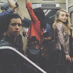 Sabrina Carpenter with Uriah Shelton in Girl Meets World.