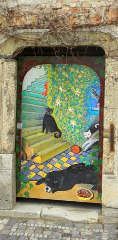Door in Bratislava, Slovakia by Kapi via imgpin.com