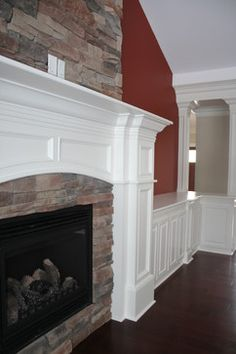 molding ideas | More Customized Molding / Moulding Ideas contemporary fireplaces