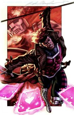 Gambit commission colors by Felipe Massafera Gambit Marvel, Gambit X Men, Rogue Gambit, Marvel X, Xmen, Marvel Heroes, Mundo Marvel, Comic Book Characters, Marvel Characters
