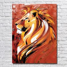 I love this lion painting. It would make a beautiful tattoo too. I also would lo… I love this lion painting. It would make a beautiful tattoo too. I also would love to see this on my wall. Oil Painting Tips, Lion Painting, Acrylic Painting For Beginners, Acrylic Painting Animals, Pour Painting, Beginner Oil Painting, Easy Acrylic Paintings, Modern Art Paintings, China Painting