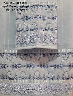 Vagonite Bargello Needlepoint, Huck Towels, Swedish Embroidery, Swedish Weaving, Stitch Patterns, Knitting, Crochet, Blue Towels, Hand Towels