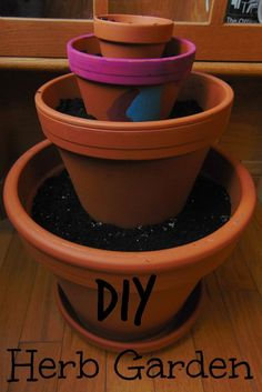 This is a super easy way to create a small herb garden year round!