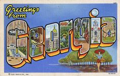 Greetings from Georgia - Large Letter Postcard by Shook Photos, via Flickr