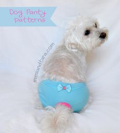 Here are the free patterns to make an easy panty nappy for your girl dog. Do it yourself well fitted and comfortable diaper