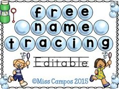FREE - Teach name recognition with tracing fonts and a name hunt. Ideal for preschool, transitional kindergarten, and kindergarten students during the back to school season. English and Spanish directions pages are included. Kindergarten Names, Preschool Names, Kindergarten Classroom, Kindergarten Activities, Kindergarten First Week, Preschool Name Recognition, Starting Kindergarten, Classroom Decor, Name Writing Activities