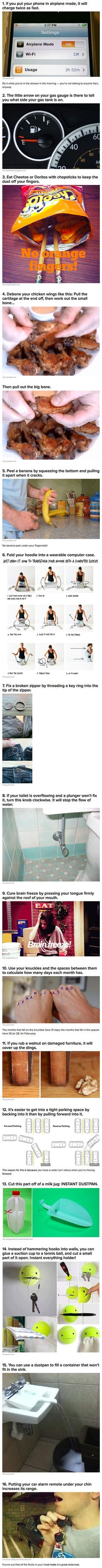 Here are some extremely simple life hacks that will make your life easier.