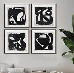 Black Wall Decor, Black And White Wall Art, Black And White Painting, Black And White Abstract, Abstract Wall Art, Abstract Watercolor, Large Wall Art, Abstract Expressionism, Painted Clothes