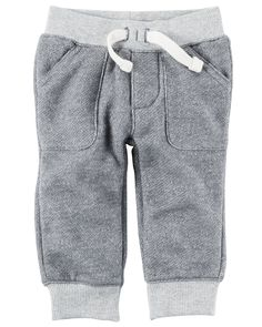 Baby Boy Pull-On French Terry Pants from Carters.com. Shop clothing & accessories from a trusted name in kids, toddlers, and baby clothes.