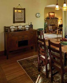 Style Bungalow Dining Room Original Interior Motives Craftsman