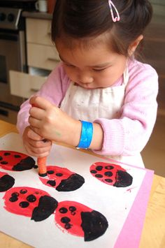 potato & carrot lady bugs @Christina DeWaal this would be fun to do with Annika's class!