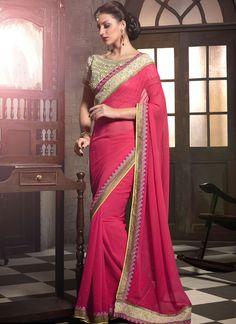 Pink Traditional #Indian #Saree at Indian Saree Store