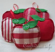 Autumn Sewing Craft Project - Fabric Apples. Imagine if you put a little cinnamon in one