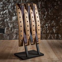 Whiskey Barrel Furniture, Wine Barrel Furniture, Wine Barrel Crafts, Recycled Timber Furniture, Wine Rack Design, Barris, Barrel Projects, Wine Display, Wood Wine Racks