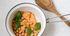 Opskrift på sund babymad - grøntsagsmos med sød kartoffel og kikærter