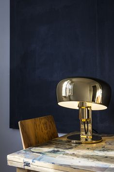 Coppola Table Lamp in all Gold. Photographed by Kaveh Kasravi for Formagenda. Available at www.formagenda-shop.com