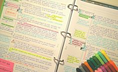 studywithalice:  30/09/2015 // 4/100 Days of Productivity.  Tax Law notes are much more fun when they have banners, flags, tags and colors. Don't you think?  Plus, if you want to know how I keep up with all of this college madness, check it here.