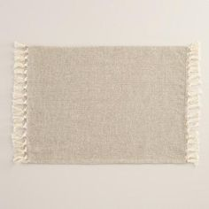One of my favorite discoveries at WorldMarket.com: Ivory and Silver Herringbone Placemats, Set of 4
