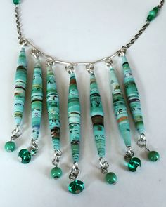 My #green #collection #recycled #paper #beads #unique #handmade #pieces #art #craft #creative #jewelry #pendants #necklace #magazine #upcycling #reporpoused Shop at: http://www.marimartscrafts.com/
