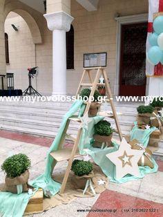 Little Star, Christening, Ladder Decor, Wedding Day, Table Decorations, Stars, Party, Vintage, Pi Day Wedding