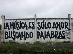 la musica es solo amor buscando palabras