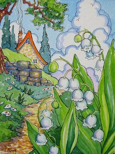 Aunt Edna's Lily of the Valley Storybook Cottage Series | by Alida Akers