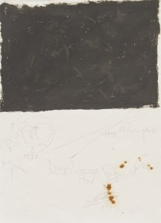 Joseph Beuys, African drawings, Oil and graphite, 1973