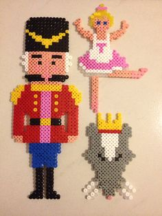 Nutcracker Suite Christmas decoration Perler beads