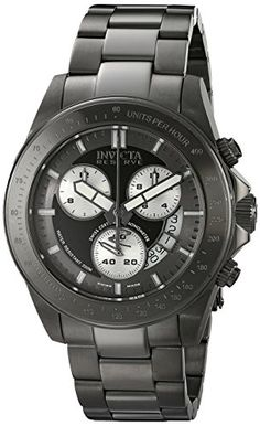 Men's Wrist Watches - Invicta Mens 17195 Speedway Analog Display Swiss Quartz Grey Watch >>> Visit the image link more details.