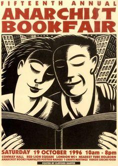 London anarchist bookfair 1996 - Clifford Harper