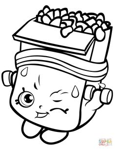 191 Best Shopkins Coloring Pages Images Shopkin Coloring Pages