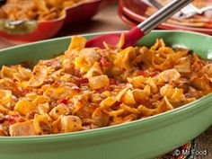 Corn Chip Chicken Casserole - It cooks up in about 35 minutes, so it's easy to make during the week.
