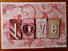 """Polypink """"All you need is... love"""" Valentines card"""
