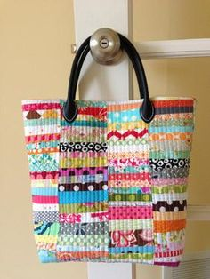 Scrap Happy Purse Pattern Download by Crazy Mom Quilts available now at connectingthreads.com for just $9.00 »