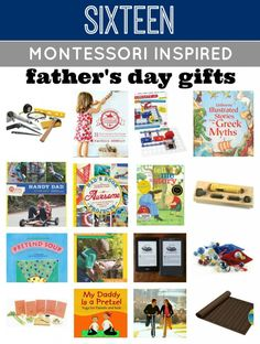 Awesome list of Montessori Inspired Fathers Day Gifts! The focus is on doing and experiencing…lots of fun!