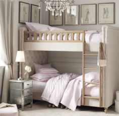 Unique Bunk Beds Idea for Twin: Girly Mood White Ambiance Unique Bunk Beds ~ dickoatts.com Bedroom Inspiration