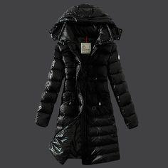 Discount Moncler 2013 Coats Women 2013 Style Black DC301401 Sale
