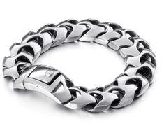 RAIWER - luxusný masívnejší pánsky náramok - chirurgická oceľ - dĺžka: 22cm Bracelets, Jewelry, Luxury, Jewlery, Jewerly, Schmuck, Jewels, Jewelery, Bracelet