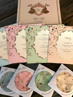 A Gorgeous Delhi Wedding Where Everything, From The Decor To The Invites, Was Customised! Indian Wedding Invitation Cards, Acrylic Wedding Invitations, Country Wedding Invitations, Indian Invitations, Wedding Stationery, Wedding Card Design Indian, Indian Wedding Cards, Card Box Wedding, Invites