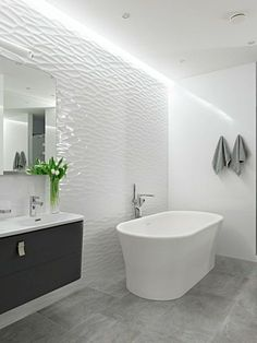 modern-bathroom-free-standing-bath-floor-tiles-concrete-look-creative-wall-design.jpg (750×1001)