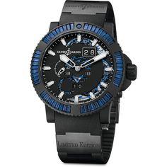 Ulysse Nardin Marine Perpetual Blue Sapphires Steel with Vulcanized Black Rubber  #PrestigeGallery #UlysseNardinIran