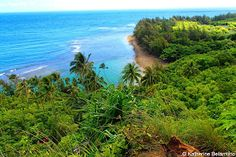 Ke'e Beach View from Kalalau Trail