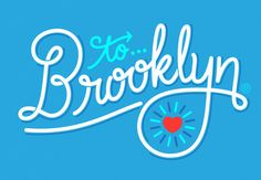 Lettering Typographic Script {love that heart} // Heart for the Borough (To Brooklyn) by Jason Wong