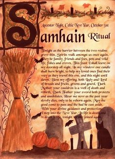 Honoring our ancestors: the Wiccan Samhain–recipes, ritual and history Samhain Ritual, Blessed Samhain, Samhain Halloween, Holidays Halloween, Halloween Goodies, Halloween House, Coven, Book Of Shadows, Magick