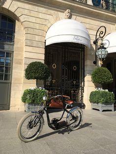 Royal Roadster at Place Vendôme, Paris Electric Bicycle, High Class, New Experience, French, Paris, Electric Push Bike, Montmartre Paris, French People, Paris France