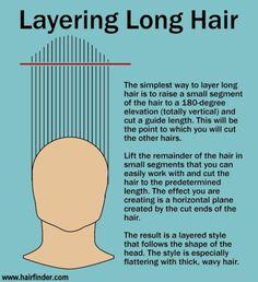 Layering long hair