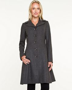 Melton Notch Collar Coat - a beautiful wool coat from Le Chateau, great retro flair!